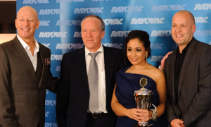 Colin Brinson Pyke, Sales Director, Rayovac, Søren Hougaard, Executive Director, EHIMA, Glen Rutherford, General Manager, Rayovac  and Jaspreet Bahra.