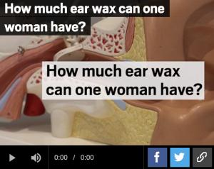 ear wax amount