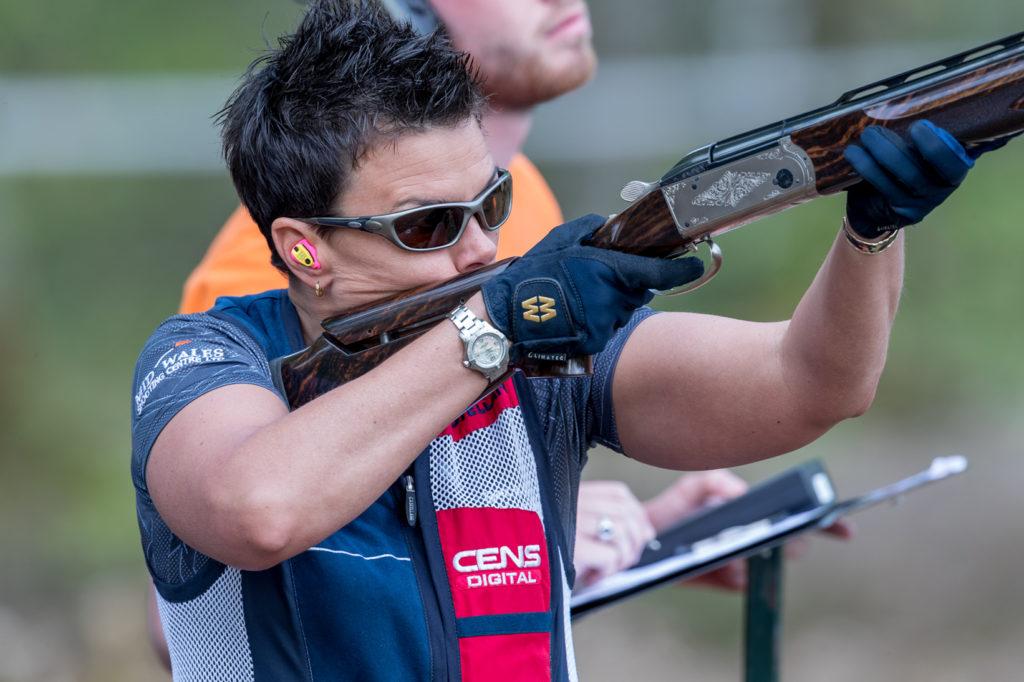 Becky McKenzie with shotgun