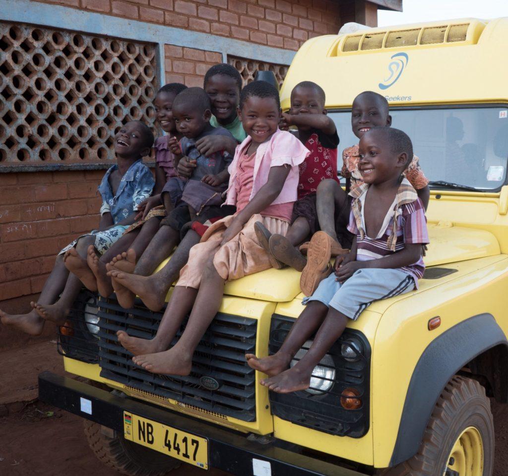 Kids on truck